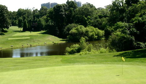 View of a GolfNYC golf course in New York City